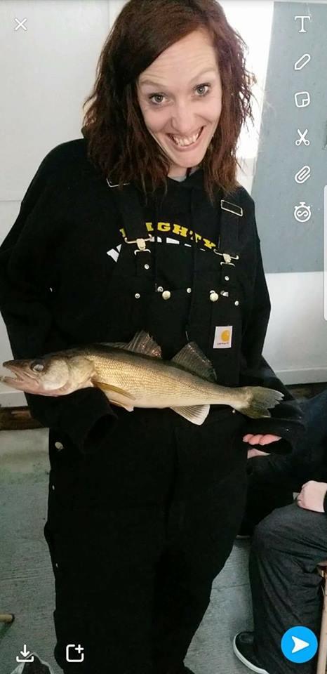 Tara with fish